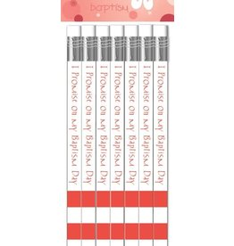 Easy Grip On Your Baptism Day Pencil Pink