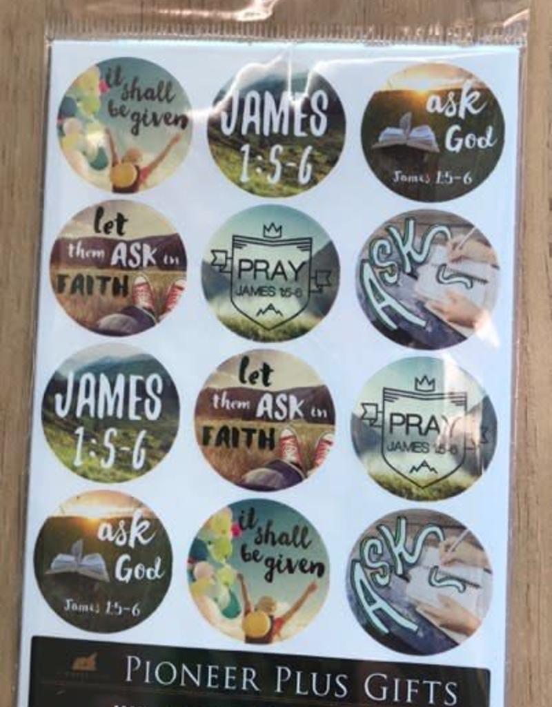 James 1:5-6 stickers