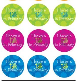 I have a talk in primary stickers
