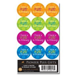 Cedar Fort Publishing I have a prayer in primary stickers