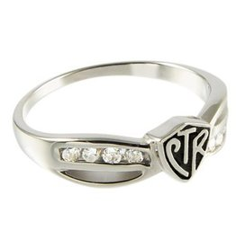 CTR, Bow Antiqued Sterling Silver