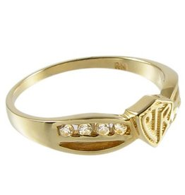 CTR, Bow Plain 14k Yellow Gold