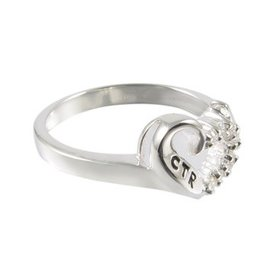 CTR, Sweetheart Ring Antiqued Sterling Silver