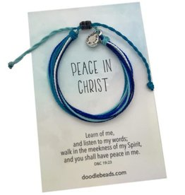 Peace In Christ Blue Thread Bracelet