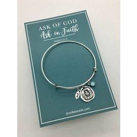 Ask Of God Charm Bracelet - Silver