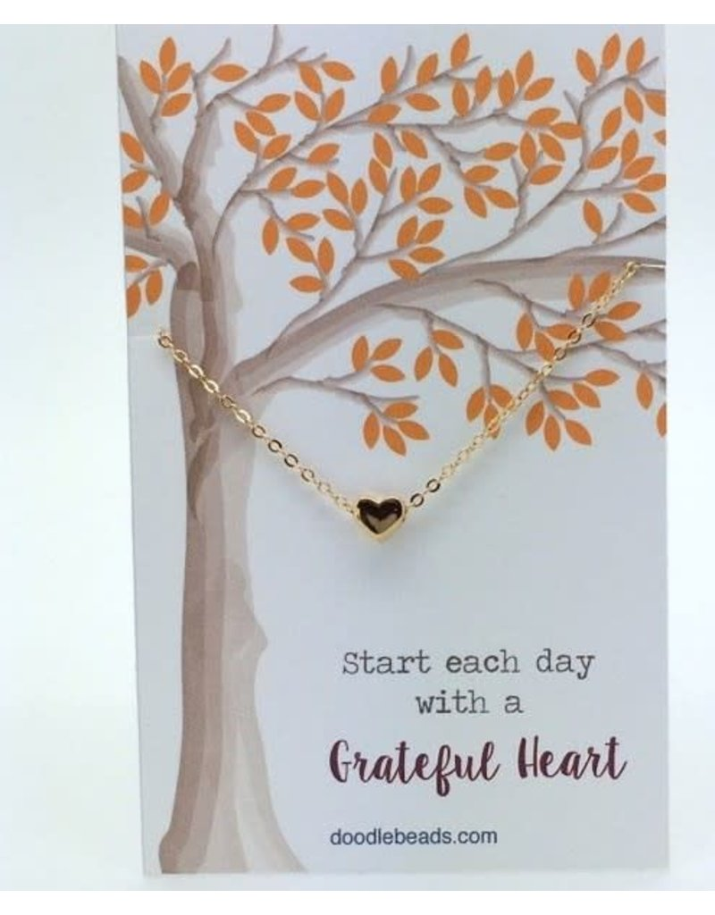 Grateful Necklace - Tiny Gold Heart
