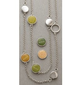 """Necklace 30"""" Double Stranded Mini Charms"""