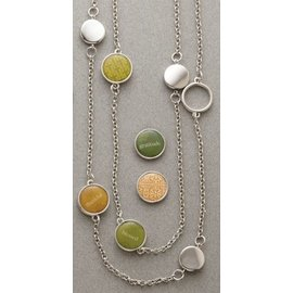 """Deseret Book Company (DB) Necklace 30"""" Double Stranded Mini Charms"""