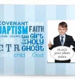 Blue Stripes Baptism Frame