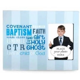 Cedar Fort Publishing Blue Stripes Baptism Frame