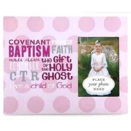 Cedar Fort Publishing Pink Polka Dots Baptism Frame