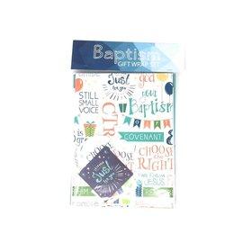 Cedar Fort Publishing Baptism Gift Wrap Set