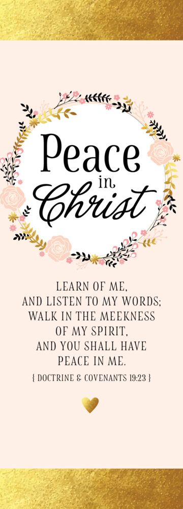 Peace in Christ Bookmark