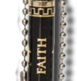 Oil Vial, Christus/Faith, Black/Gold