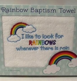 Rainbow Baptism Towel, Comes in Gift Box