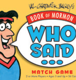 Who Said Book of Mormon Match Game