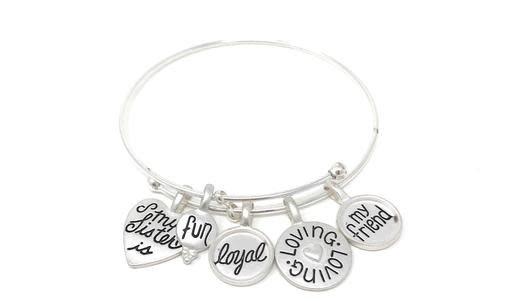 My Loyal Sister Charm Bracelet