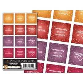 Cedar Fort Publishing I am reverent girl stickers
