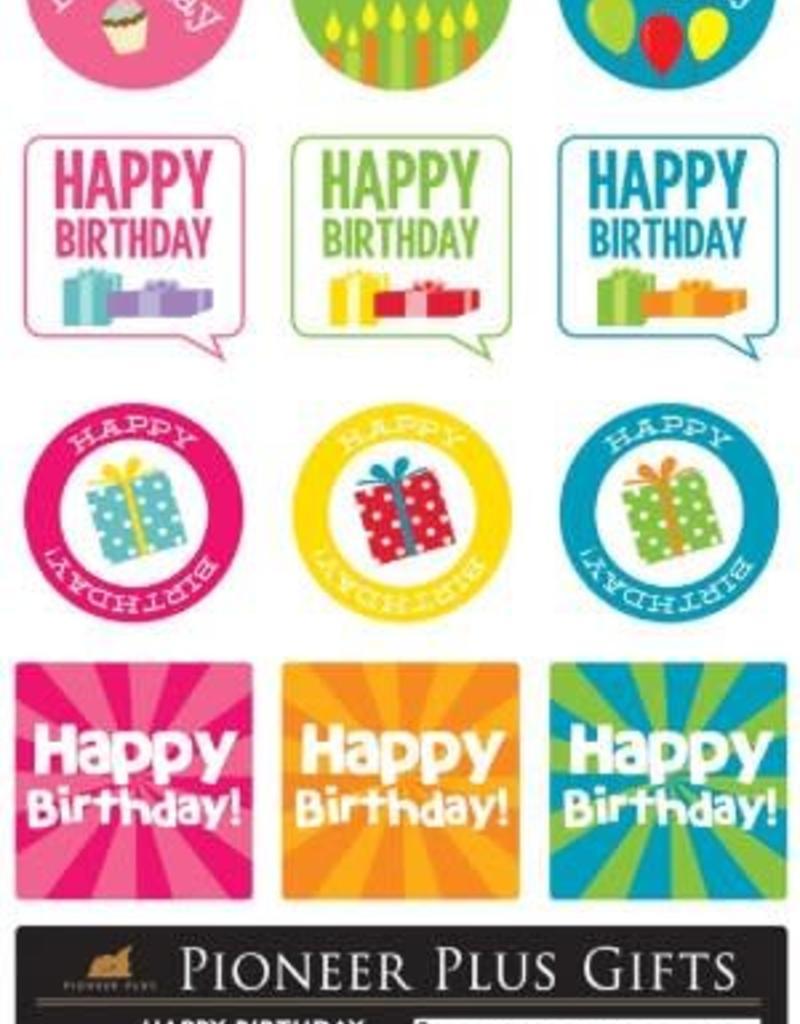 Happy birthday stickers ldsbookuk com