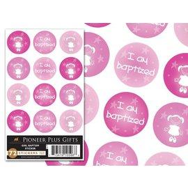 Cedar Fort Publishing Girl Baptism stickers