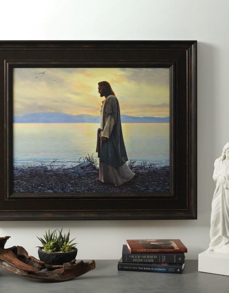 "Walk with me (33x28"" framed print by Greg Olsen)"