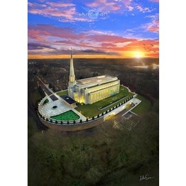 Preston Temple Arial Photo, Recommend Holder