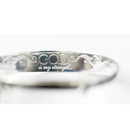 God is my Strength Silver Plated Copper Bracelet