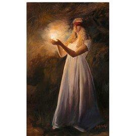 "I Walk by Faith, by Judy Cooley. 5""x 7"" Print"
