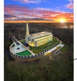 5x7 Print/Postcard - Preston Temple Arial Photo