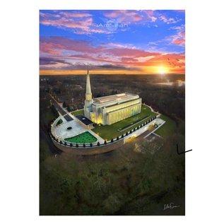 A5 Print/Postcard - Preston Temple Arial Photo