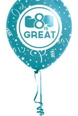 8 is great baptism balloons (blue)