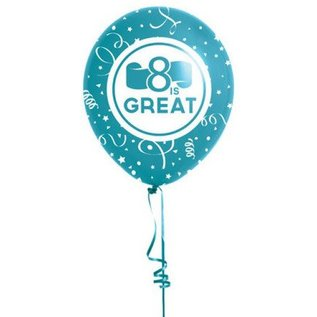 Cedar Fort Publishing 8 is great baptism balloons (blue)