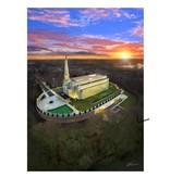 A3 Canvas Print - Preston England Temple Arial Photo