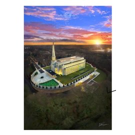 A3 Unframed Print - Preston England Temple Arial Photo