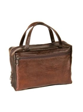 Avery Faux Leather Compact Brown