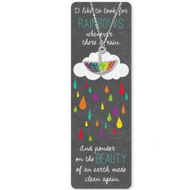 Baptism rainbow necklace and bookmark
