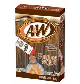 A&W Root Beer Flavoured Drink Mix 6 x Singles To Go Sachets 15g
