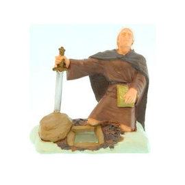 """Latterday Designs 3""""Figure. Moroni, burying gold plates."""