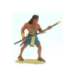 "3""Figure. Stripling warrior, Blue."