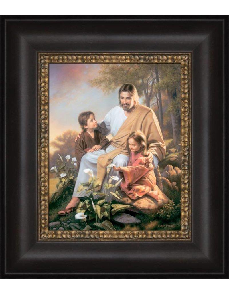 Consider the Lilies, Simon Dewey, 12x14 framed Strata Design.