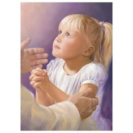 "A Child's Prayer, Jay Bryant Ward, 11""x 14"" Framed Print"