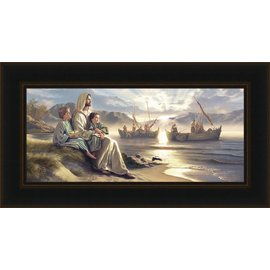 Men of Galilee, Simon Dewey, 37x20 framed giclee canvas