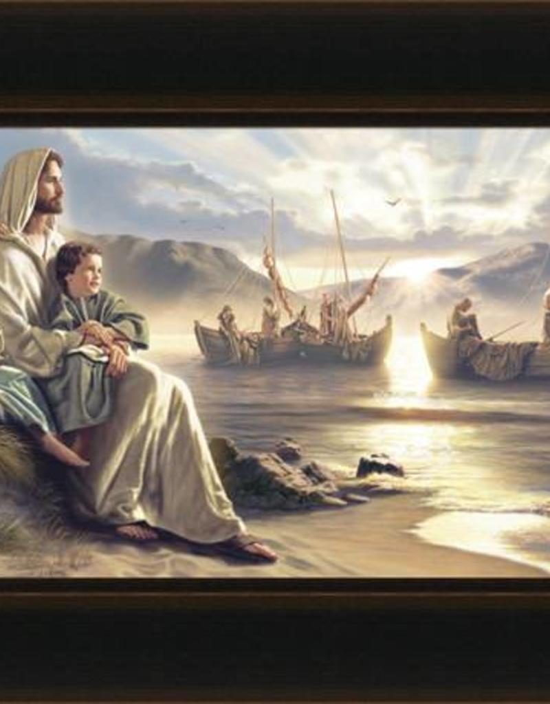 Men of Galilee, Simon Dewey, 37x20 framed giclee canvas