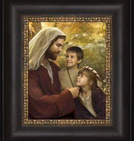 I Feel My Savior's Love. Jay Bryant Ward. 12x14 framed textured print.