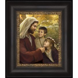 I Feel My Savior's Love. Jay Bryant Ward. 12x14 framed textured print.
