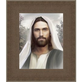 Brent Borup - Artist Resurrection and the Life. Brent Borup. 12x14 framed textured print.