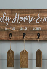 Wood Finish Family Home Evening Board