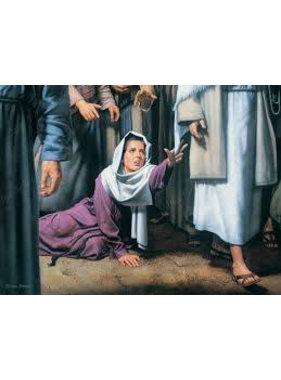 """Touch of faith, by Simon Dewey.  5""""x 7"""" Print"""