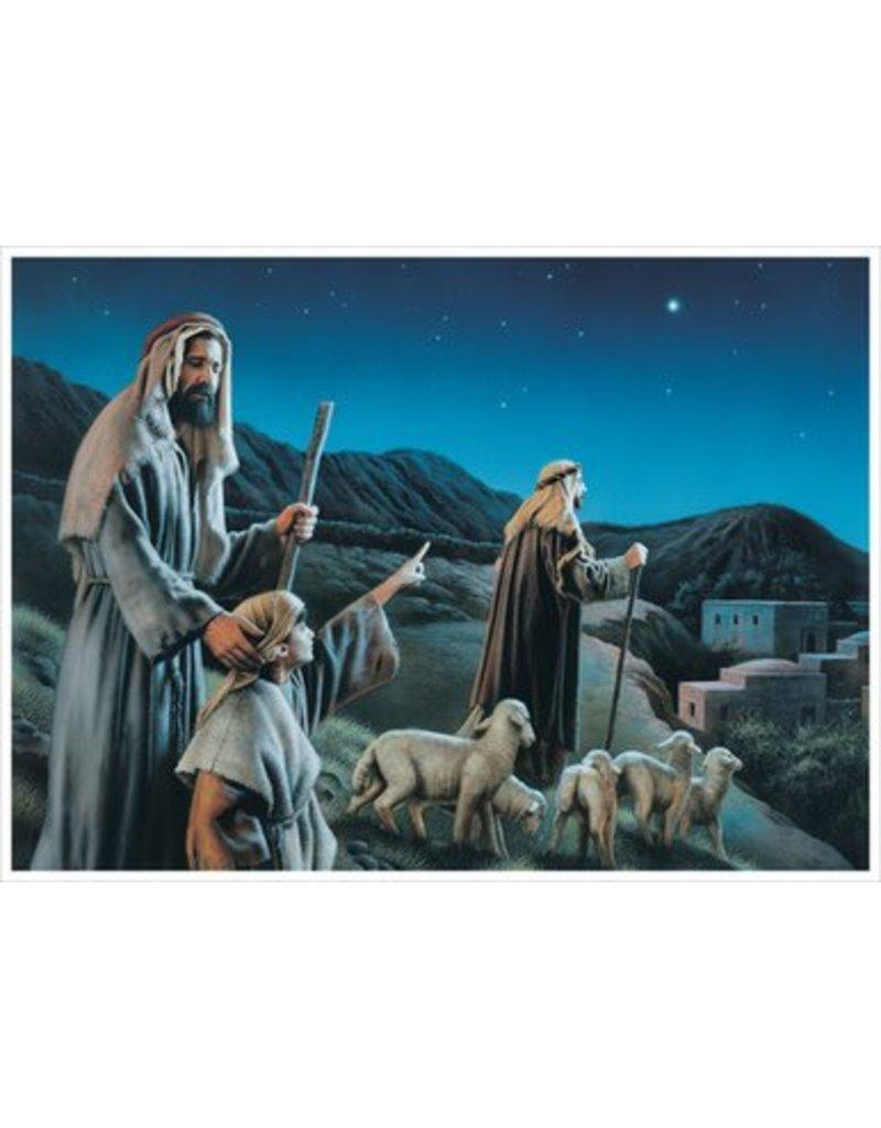 "Come Ye To Bethlehem, by Simon Dewey. 5""x 7"" Print"