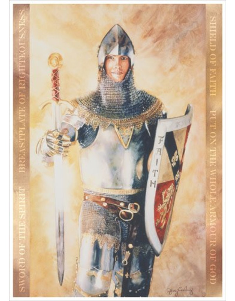 """Armour Of God, by Judy Cooley. 5""""x 7"""" Print"""